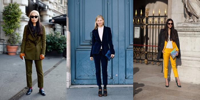 Streetstyle traje de chaqueta