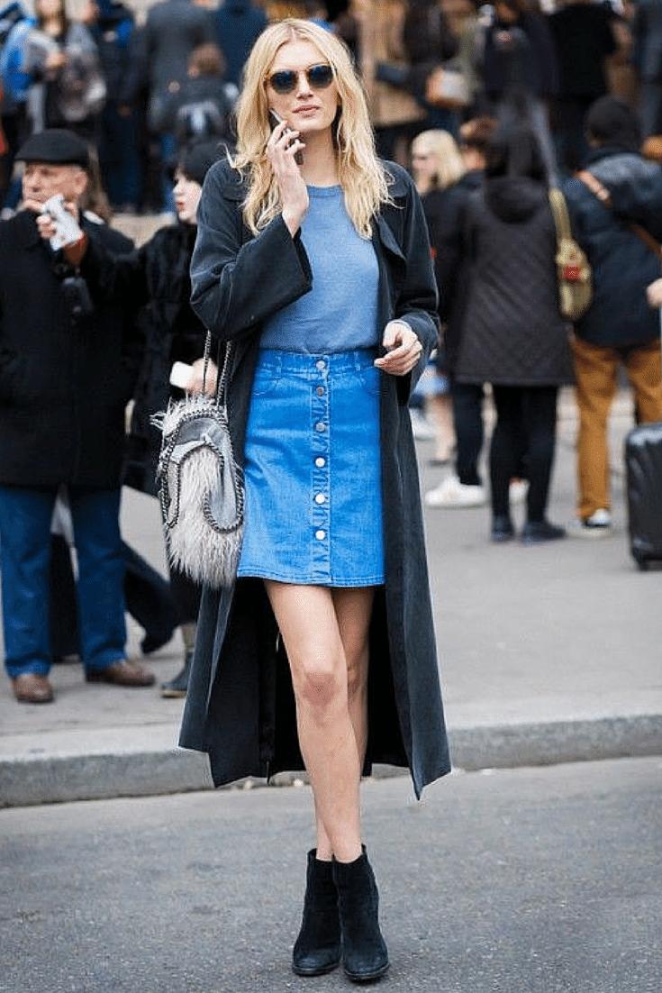 minifalda abotonada