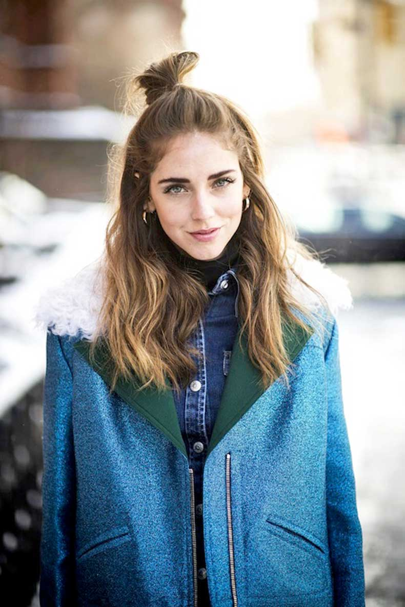 3-Le-Fashion-Blog-20-Inspiring-Half-Up-Top-Knot-Hairstyles-Chiara-Ferragni-The-Blonde-Salade-Hair-Bun-Via-Cosmopolitan1