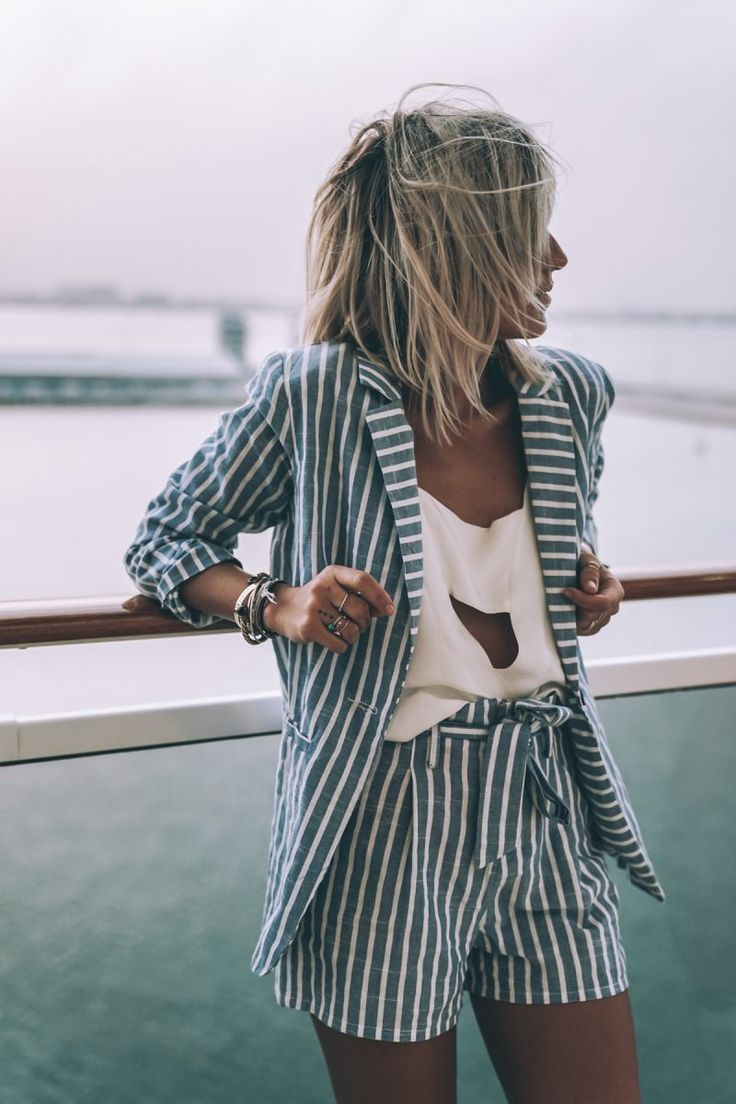 8c8ef5ea377e52632b5fd8e922339085--stripe-shorts-blazer-with-shorts