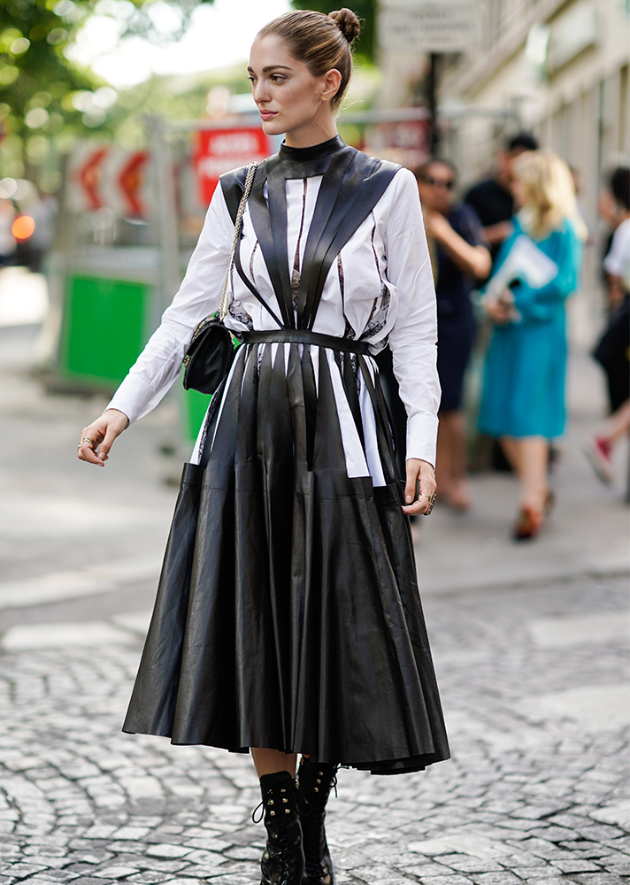 acne-studios-levice-pleated-leather-dress-getty